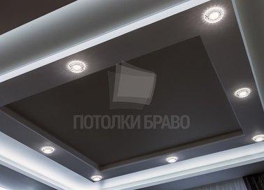 Кофейный матовый натяжной потолок НП-1903
