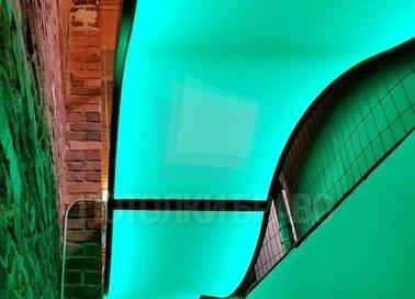 Волнообразный изумрудный натяжной потолок НП-101 - фото 2