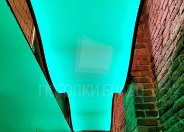 Волнообразный изумрудный натяжной потолок НП-101