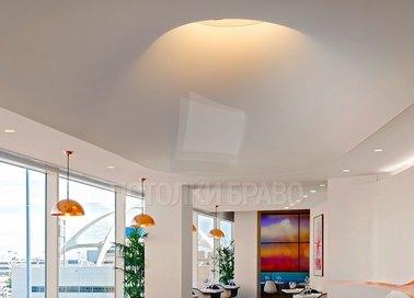 Белый матовый натяжной потолок для ресторана НП-102 - фото 3