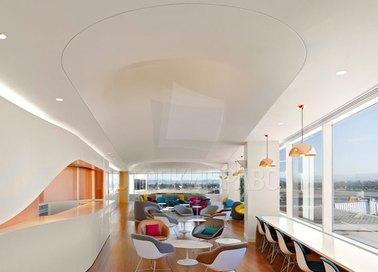 Белый матовый натяжной потолок для ресторана НП-102