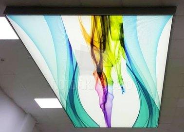 Разноцветный матовый натяжной потолок для салона красоты НП-104 - фото 2