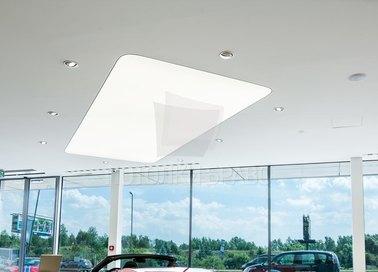 Матово-глянцевый натяжной потолок для автосалона НП-111 - фото 5