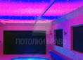 Фиолетовый сатиновый натяжной потолок ампир для бассейна НП-131