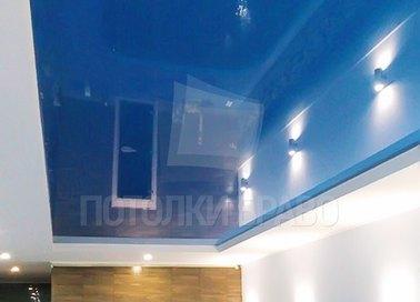 Черный матово-глянцевый натяжной потолок для бассейна НП-132 - фото 2