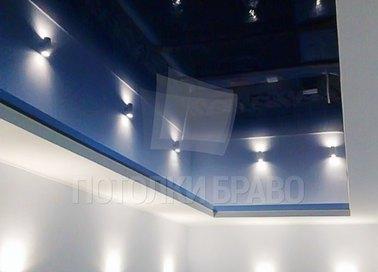 Черный матово-глянцевый натяжной потолок для бассейна НП-132