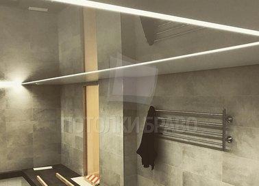 Коричневый глянцевый натяжной потолок для бассейна НП-136 - фото 2