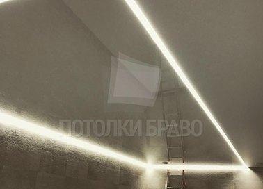 Коричневый глянцевый натяжной потолок для бассейна НП-136 - фото 3