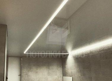 Коричневый глянцевый натяжной потолок для бассейна НП-136 - фото 4