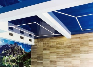 Синий натяжной потолок для бассейна НП-147 - фото 2