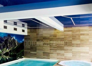 Синий натяжной потолок для бассейна НП-147