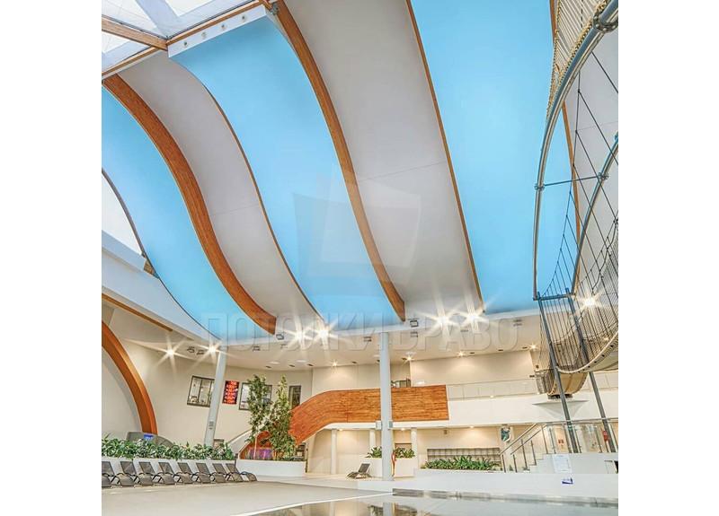 Двухуровневый натяжной потолок для бассейна НП-150