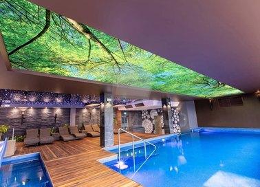 Матовый природный натяжной потолок для бассейна НП-165