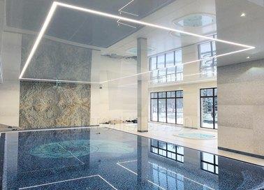 Белый глянцевый натяжной потолок для бассейна НП-166 - фото 2