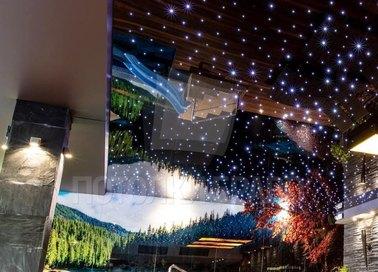 Глянцевый натяжной потолок для бассейна с ночным небом НП-169 - фото 2