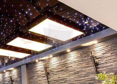 Глянцевый натяжной потолок для бассейна с ночным небом НП-169 - фото 3