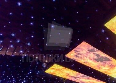 Глянцевый натяжной потолок для бассейна с ночным небом НП-169 - фото 5